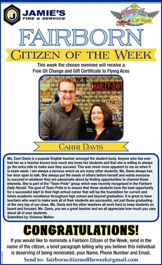 Citizen of the week - Garri Davis