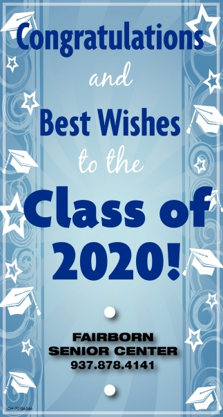Congratulations and Best Wishes to the Class of 2020