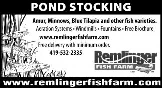 Pond Stocking Remlinger Fish Farm