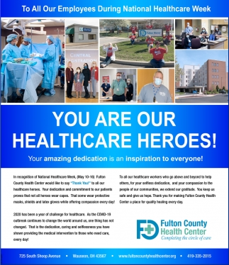 You are Our Healthcare Heroes