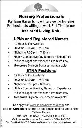 Nursing Professionals