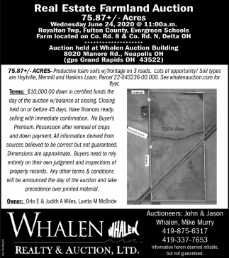 Real Estate Farmland Auction