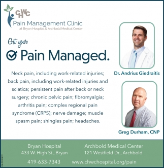 Get Your Pain Managed