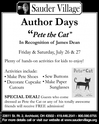 Author Days - Pete the Cat