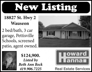 New Listing |18827 St. Hwy 2, Wauseon