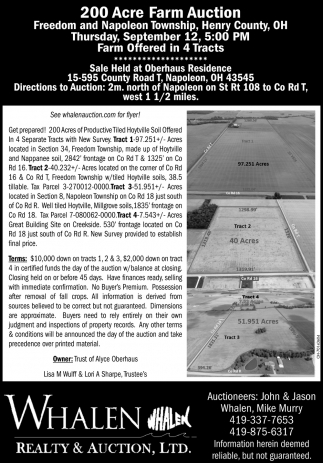 200 Acre Farm Auction