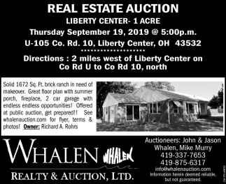 Real Estate Auction - September 19