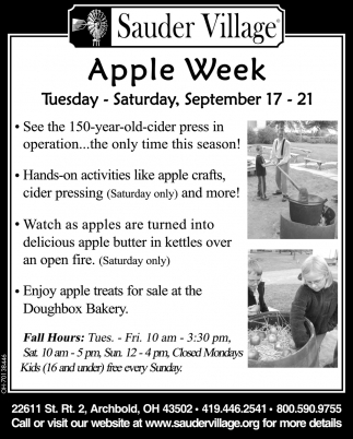 Apple Week - September 17 - 21