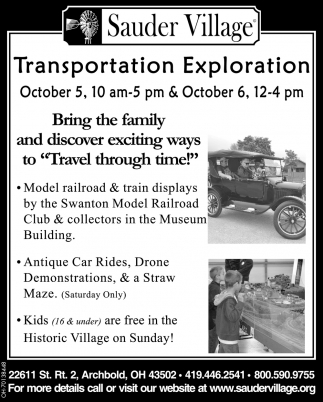 Transportation Exploration - October 5 - 6