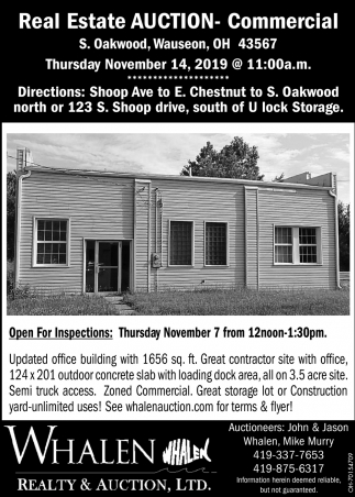 Real Estate Auction - Commercial - November 14