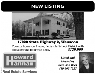 Open House - 17020 State Highway 2, Wauseon