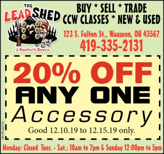 20% Off Any One Accessory