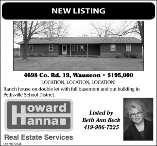 Open House - 4698 Co. Rd. 19, Wauseon