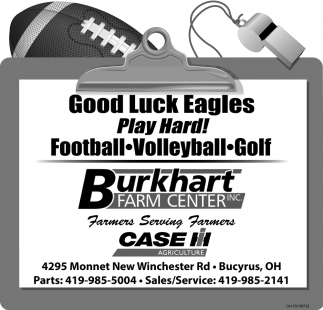 Good Luck Eagles