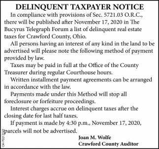 Delinquent Taxpayer Notice
