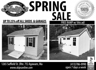 Spring Sale, Skip's Outdoor Accents, Agawam, MA
