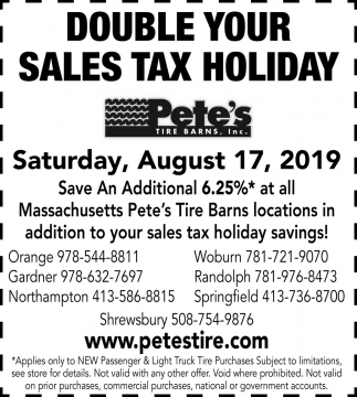 Doble Your Sales Tax Holiday