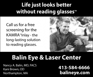 Life Just Looks Better without Reading Glasses