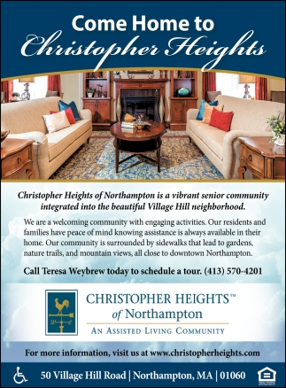 Come Home to Christopher Heights of Northampton