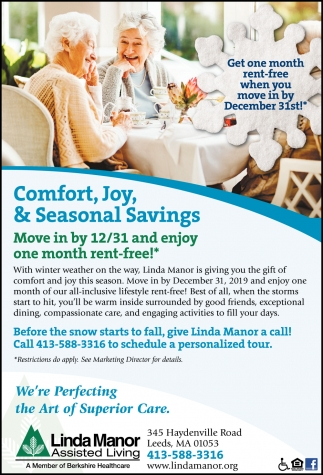 Comfort, Joy, & Seasonal Savings