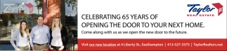 Celebrating 65 Years of Opening The Door to Your Next Home