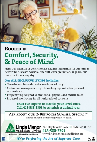 Comfort, Security & Peace of Mind
