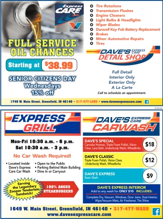 Full Service Oil Changes