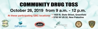 Community Drug Toss