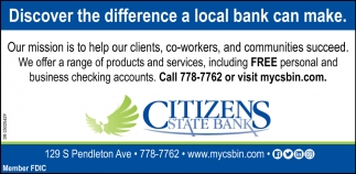 Discover The Difference A Local Bank Can Make.