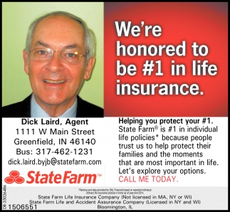 We're Honored To Be #1 In Life Insurance