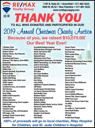 2019 Annual Christmas Charity Auction
