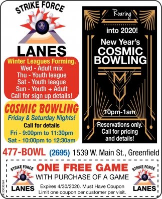 New Year's Cosmic Bowling