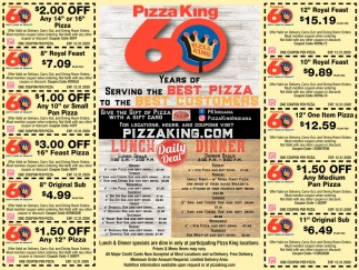 60 Years Of Serving The Best Pizza
