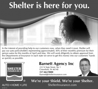 Shelter Is Here For You.