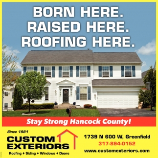 Born Here. Raised Here. Roofing Here.