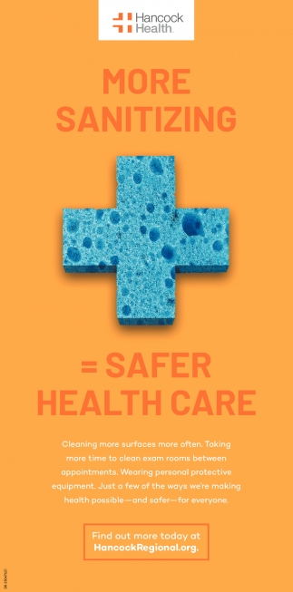 More Sanitizing=Safer Health Care
