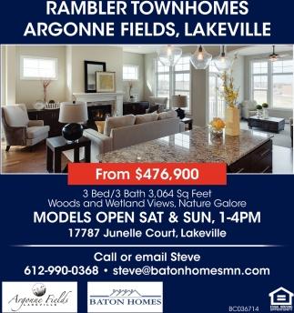 Rambler Townhomes, Argonne Fields