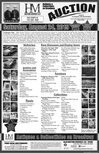auction saturday august 24 2019 h m auction services llc little falls mn ads