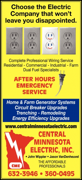after hours emergency service central minnesota electric inc little falls mn ads