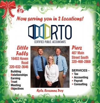 Certified Public Accountants, RTO PA, Pierz, MN