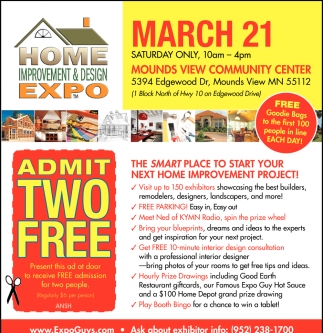 Admit Two Free Home Improvement Design Expo March 21 2020