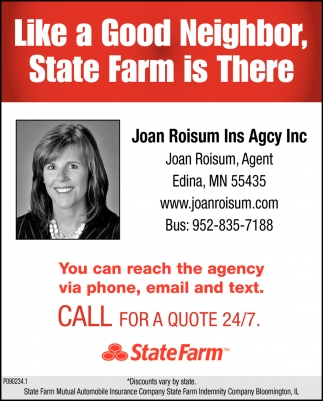 Like A Good Neighbor State Farm Is There State Farm Joan