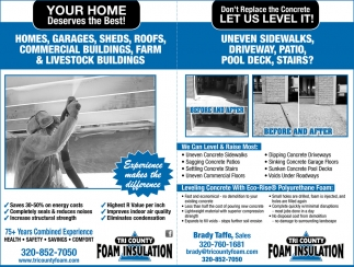 Your Home Deserves The Best Tri County Foam Insulation Llc Alexandria Mn