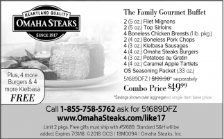 The Family Gourmet Buffet, Omaha Steaks , Saint Louis Park, MN
