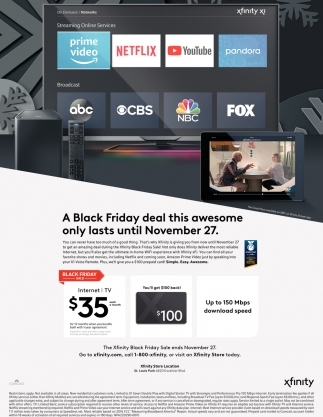 A Black Friday Deal This Awesome Only Lasts Until November 27 Xfinity Woodbury Mn
