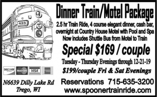 Dinner Train/ Motel Package