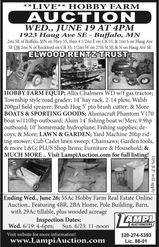 Live Hobby Farm Auction