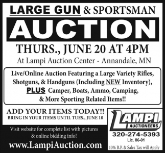 Large Gun & Sportsman Auction