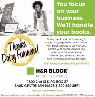You Focus On Your Business. We'll handle Your Books