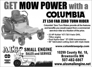 Get Mow Power with a Columbia